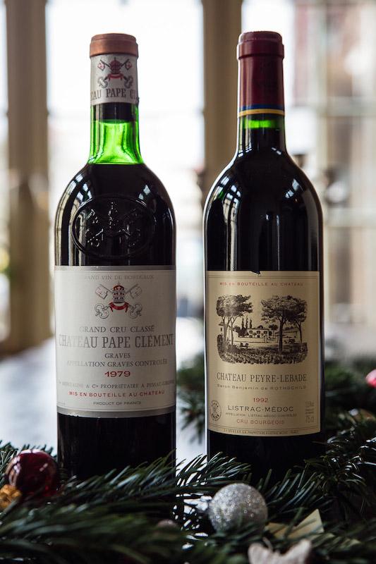 Wein Bordeaux - Chateau Pape Clement 1979 Chateau Peyre Lebade 1992