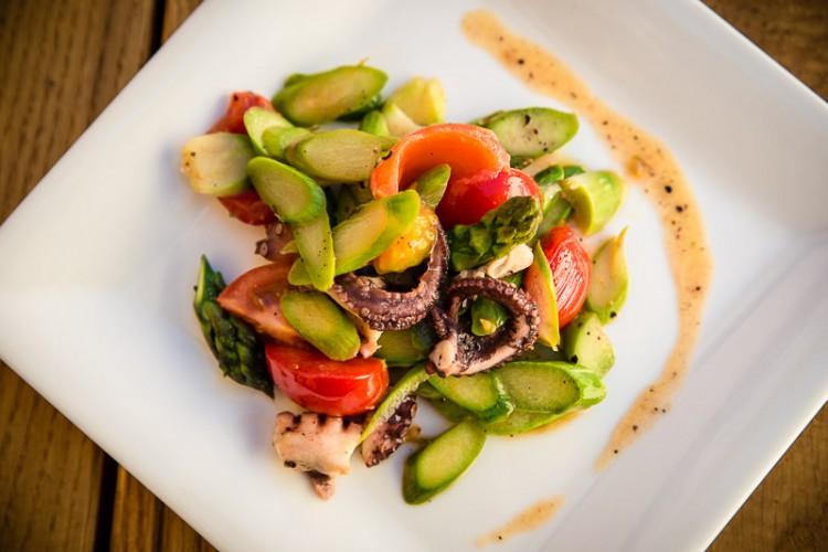 Rezept Spargelsalat mit Krake Tunfisch - Kochen Kochschule Potsdam Berlin