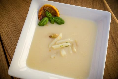 Rezept Spargelsuppe mit karamellisierter Zitrone selber machen kochen Kochschule Potsdam